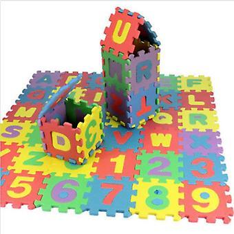 36 piese / Set de Mini pliere Puzzle pentru copii Joc Pad Noua scrisoare Soft Eva Foam Pad Educație timpurie Puzzle Pad