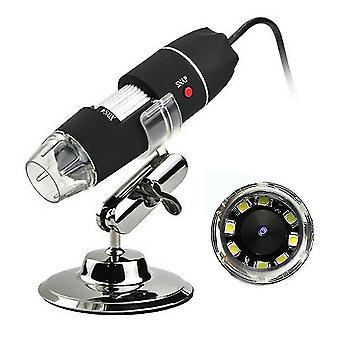 1000x Zoom Hd 1080p Usb Microscope Digital Magnifier Pipepiece Camera, 8led