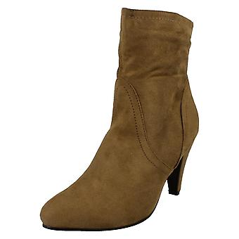 Ladies Spot On High Heel Ankle Boots