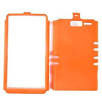 Rajoittamaton Cellular Rocker Snap-on tapa uksessa Motorola XT907/Droid RAZR M (fluoresoiva oranssi)