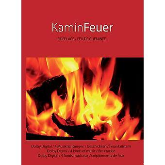 Foyer DVD cheminée feu DVD avec 6 x musique libre de droits