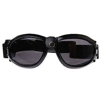 Bold Round Motorcycle Biker Goggles / Sunglasses with Adjustable Strap