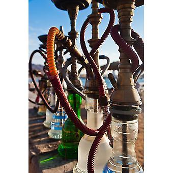 Close-up of shisha water pipes on Aqaba beach Aqaba Jordan Poster Print by Panoramic Images (36 x 24)