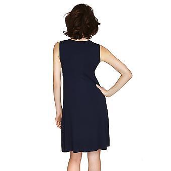 Salon Mio Santiago Micro Modal bleu imprimer chemise de nuit 132C490B
