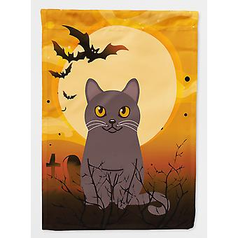 Carolines Treasures  BB4443CHF Halloween Chartreux Cat Flag Canvas House Size