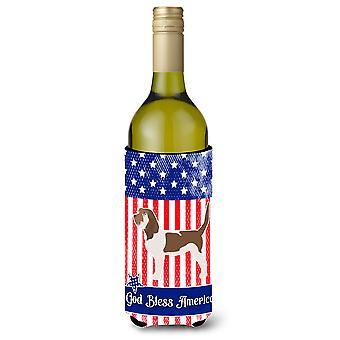 USA patriottische Grand Basset Griffon Vendéen wijn fles Beverge isolator Hugger
