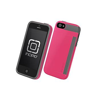 5 Pack -Incipio Stowaway Case for Apple iPhone 5 - Pink/Gray (IPH-855)