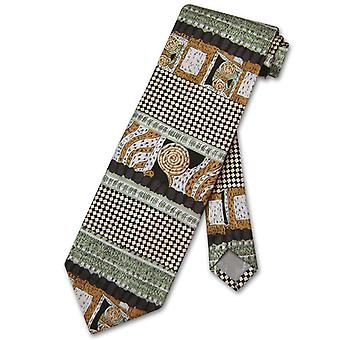 Antonio Ricci SILK NeckTie Made in ITALY Geometric Design Men's Neck Tie #3107-4