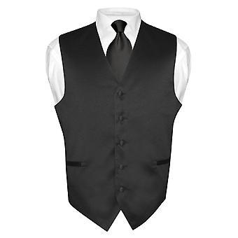 Robe Vest & cravate solide cou cravate ensemble hommes pour costume ou smoking