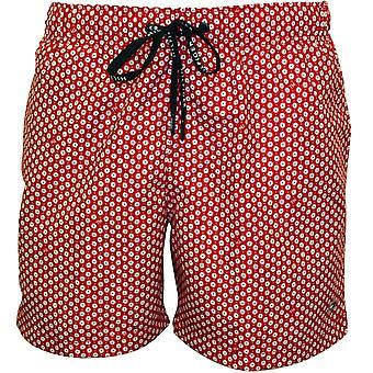 Tommy Hilfiger Geo Print zwemmen Shorts, rood