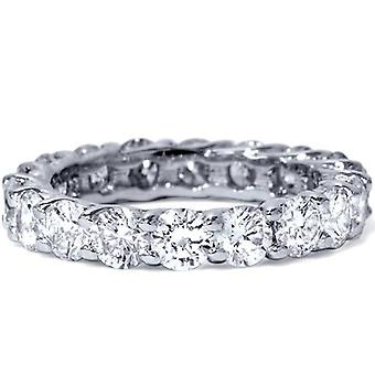 3ct ægte diamant evigheden jubilæum vielsesring