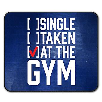 Single Taken Gym  Non-Slip Mouse Mat Pad 24cm x 20cm | Wellcoda
