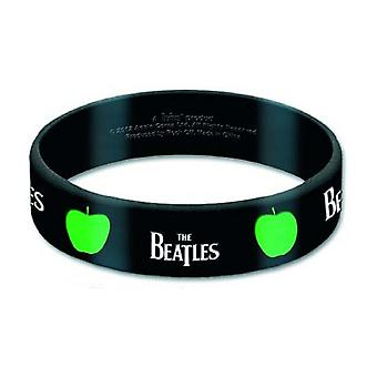 The Beatles Wristband Drop T band logo new Official Apple black Rubber