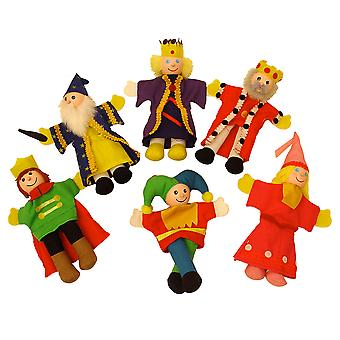 Bigjigs Toys Soft Cloth Royalty Finger Puppets Acting Act Show Theatre