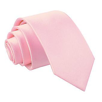 Baby Pink almindelig Satin slanke slips