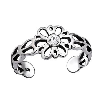 Flower - 925 Sterling Silver Toe Rings - W29413x