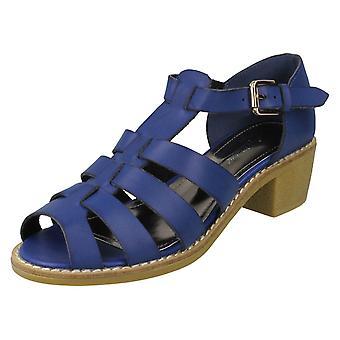 Ladies Anne Michelle Mid Heel Gladiator Sandal F10167