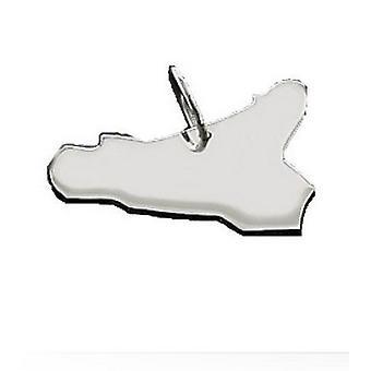 Anhänger Landkarte SIZILIEN Kettenanhänger in massiv 925 Silber