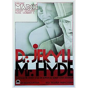 Dr. Jekyll and Mr. Hyde poster Fredric March, Miriam Hopkins (Swed. Poster)