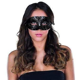 Domino masque Spider Web modèle Carnaval Carnaval Halloween accessoire