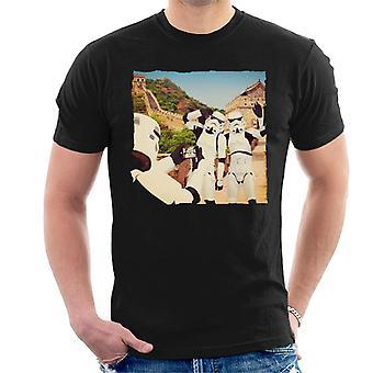 Oryginalna szturmowców Selfie Wielki Mur męska koszulka