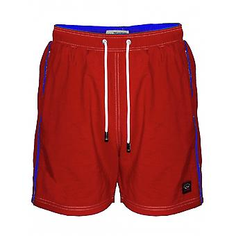 Paul & Shark Red Swim Shorts