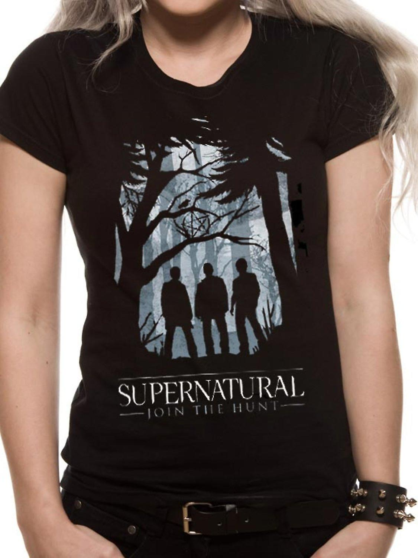 Supernatural-Group Outline T-Shirt, women