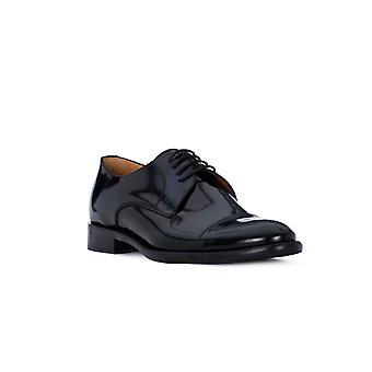 Exton brushed blue shoes