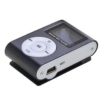 Compact MP3 player with microphone, black
