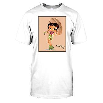 Dibujos animados de Betty Boop Vintage - vestida para la lluvia para hombre camiseta