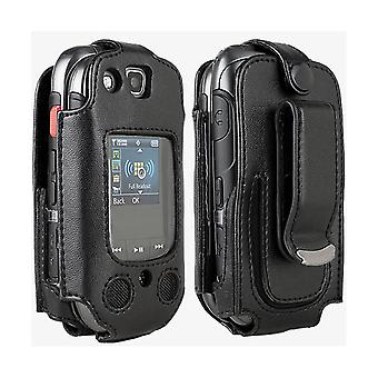 Verizon Swivel Fitted Leather Case for Samsung Convoy 3 U680 - Black