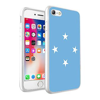 For Apple iPhone XR - Macronesia Flag Design Printed White Case Skin Cover - 0113 by i-Tronixs