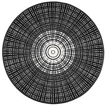 Alfombrilla redonda negro cáscara lavar + secar alfombra suciedad lavable