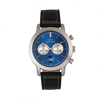 Elevon Langley Chronograph Leather-Band Watch w/ Date - Blue/Black