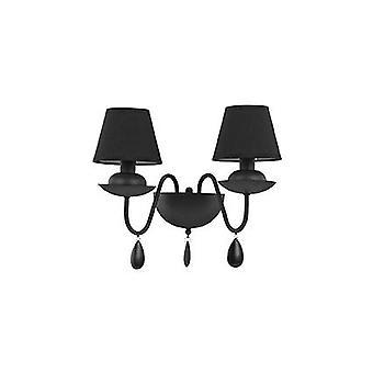 Ideal Lux - luz de pared doble blanca mate negro con tonos IDL111889