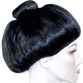 Гейша парик черный