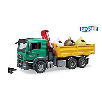 MAN TGS vrachtwagen glasrecycling Bruder 03753