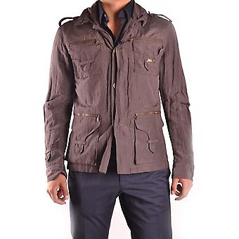John Richmond Ezbc082002 Men's Brown Polyester Outerwear Jacket