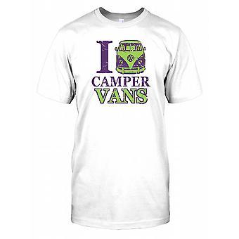 Ich liebe Camper Vans Herren T Shirt