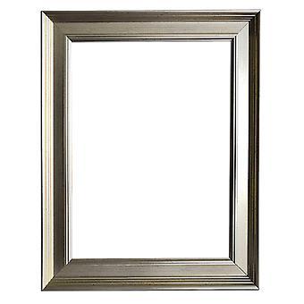 30x40 cm or 12x16 inch, silver frame