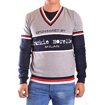 Frankie Morello Ezbc167059 Men-apos;s Grey Cotton Sweater