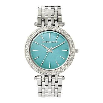 Michael Kors Watches Mk3515 Darci Turquoise Mother Of Pearl & Silver Stainless Steel Ladies Watch