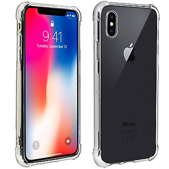 Apple iPhone X / XS Case, Enforced Angles, Silicone Skin - Transparent