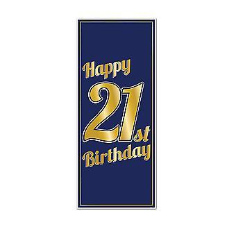 21ème anniversaire porte couverture