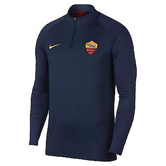 2019-2020 como Top de taladro de entrenamiento Roma Nike (obsidiana)