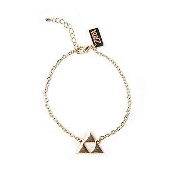 The Legend of Zelda Wristband Triforce Logo Bracelet-Gold (WB100407ZEL)