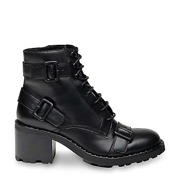 Ash XETH Buckle Heeled Boots Black Leather