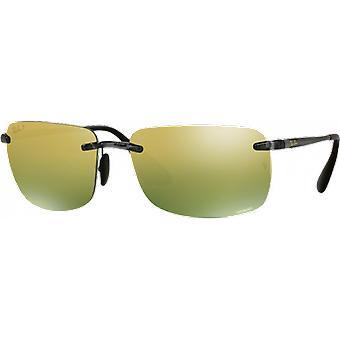 Ray - Ban RB4255 Chromance gray gloss mirrored Green Gold polarized