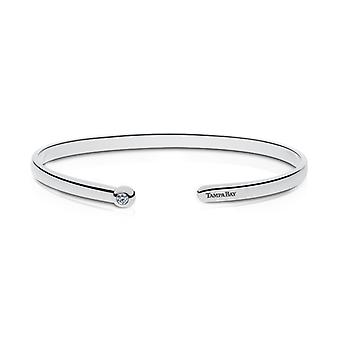 Tampa Bay Rays Engraved Sterling Silver Diamond Cuff Bracelet