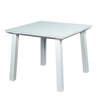 Plage7 - France Soho Garden Table 90x90 avec Matte Glass Sheet (fr)  Blanc tables de jardin